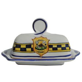 Butter Dish - Palio di Siena - Italian Ceramics