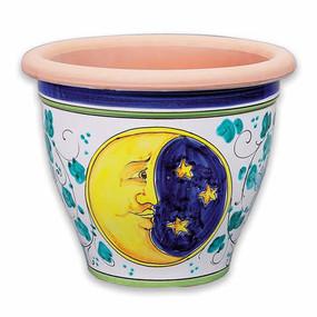 Bell Shaped Pot - Moon - Italian Ceramics
