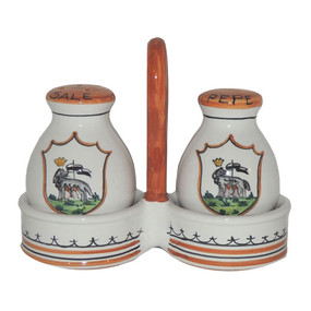 Palio di Siena Contrade Salt & Pepper Shaker - - Italian Ceramics