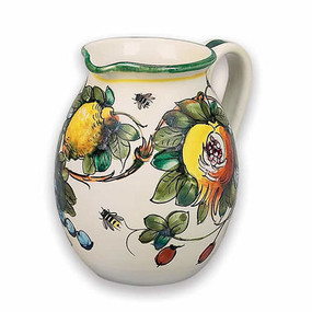 Toscana Bees Wine Pitcher - Italian Ceramics