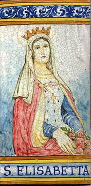 St. Elizabeth Tile - St. Elisabetta Italian Ceramic Tile. Hand painted Italian tile from Castelli, Italy.