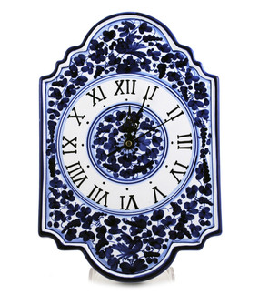 Wall Clock - Arabesco Blue - Fratelli Mari - Italian Ceramics