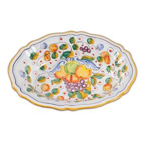 Fluted Oval Bowl - Miele - Italian Ceramics