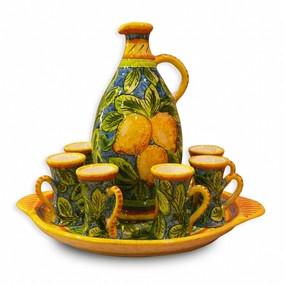 Limone 8 piece Limoncello Set - Italian Ceramics