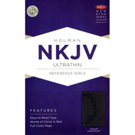 NKJV Ultrathin Reference Bible, Charcoal Imitation Leather