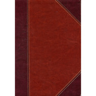 KJV Large Print Ultrathin Reference Bible, Classic Mahogany, Imitation Leather