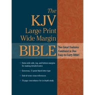 KJV Large Print, Wide Margin Bible (Burgundy Bonded Leather)