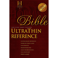 NKJV Holman UltraThin Reference Bible (Burgundy Bonded Leather)