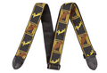 "Fender® 2"" Monogrammed Straps ( Black / Yellow / brown )"