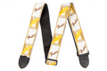 "Fender® 2"" Monogrammed Straps ( White / Brown / Yellow )"