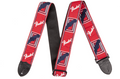 "Fender Guitar Strap 2"" Monogrammed Straps (Red / White / Black  )"