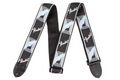 "Fender Guitar Strap  2"" Monogrammed Strap ( Black / light grey / Blue )"