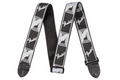 "Fender® 2"" Monogrammed Strap ( Black / light grey / dark grey )"