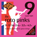 Rotosound R9 Roto Pinks Electric Guitar Strings (9-42)