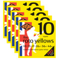 Rotosound R10 Roto Yellows Electric Guitar Strings (10-46)  5 set deal