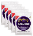 Martin M140 light gauge bronze wound acoustic guitar string set ( 5 set deal )