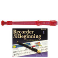 Yamaha  YRS20BP Descant School Recorder Translucent Pink With Book 1