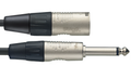 10 Metre Audio Cable - Mono 6.3mm Jack Plug To Male XLR Connector