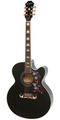 Epiphone EJ200SCE Electro Acoustic Guitar  Black