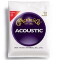 Martin M140 light gauge bronze wound acoustic guitar string set