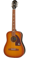 Epiphone Lil Tex Solid Top Electro-Acoustic Travel Guitar - Faded Cherry