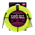 Ernie Ball    10' Braided Angle To Straight Guitar Lead  - YEllow