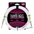 Ernie Ball 10' Guitar Lead Angle to Straight white
