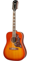 Epiphone Inspired by Gibson Hummingbird 12 string in Aged Cherry Sunburst Gloss