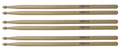 Drum sticks  Maple 5A   ( 3 sets wooden tip )