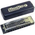 Hohner Silver star 10 hole diatonic harmonica Key D