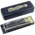 Hohner Silver star 10 hole diatonic harmonica Key  A