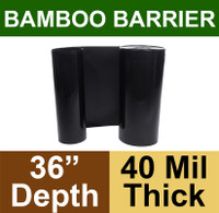 "Bamboo Barrier - Rhizome Barrier - 36"" x 100' Roll - 40 mil Thickness"