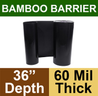 "Bamboo Barrier - Rhizome Barrier 36"" x 100' Roll - 60 mil Thickness"