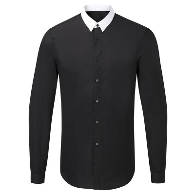 Contrast Point Collar- Blk
