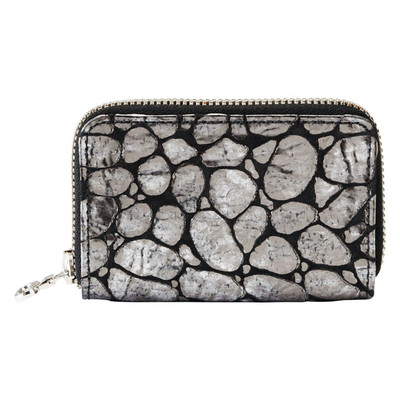Leather Zip Wallet - Chioggio Silver