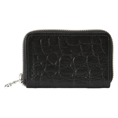 Leather Zip Wallet - Crocco