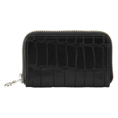 Leather Zip Wallet - Embossed