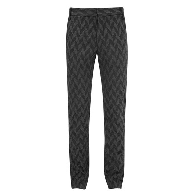 Wool Jacquard Trousers