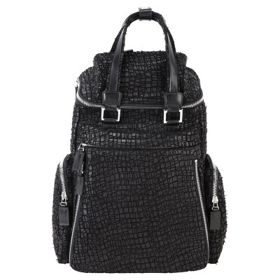 Hand-Serrated, Leather Back Pack