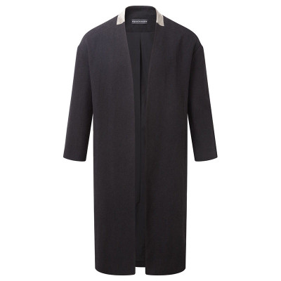 Cropped Slv Robe Coat