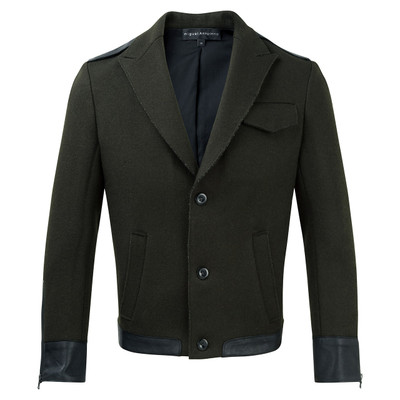 Wool + Leather Sport Jacket, Hunter