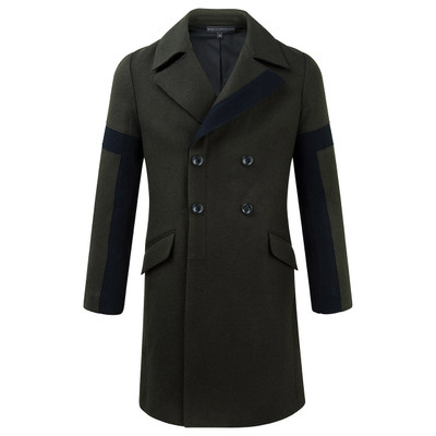 Wool Color Blocked Coat
