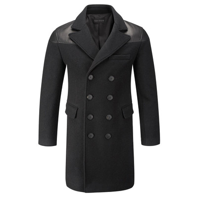 Jacob Wool + Leather Coat
