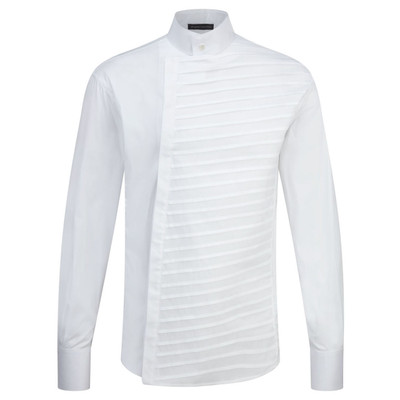 Tailored Pintuck Shirt - White
