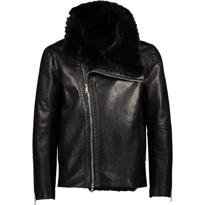 Leather Shearling Biker Jacket