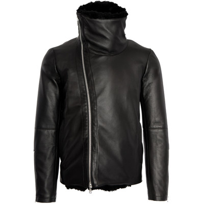 Leather, Shearling Biker Jacket