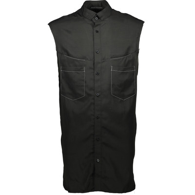 Contrast Stitch Sleveless Shirt