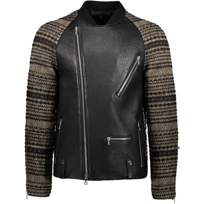 Knit, Raglan Leather Biker Jackets