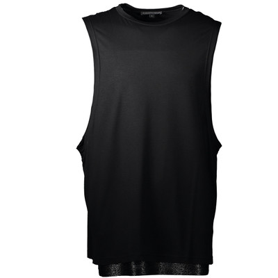 Sleeveless Contrast Jersey T-Shirt
