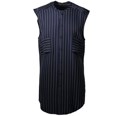 Sleeveless, Stripe Lounge Shirt